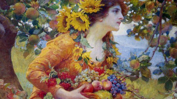 František Dvořák - In the Orchard (1912) - utsnitt