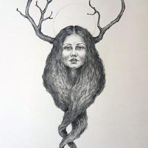 Golden Crown under arbeid 2 - Tegning laget av Elisabeth Berggren Hansen (2019)