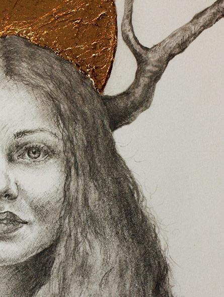 Golden Crown - Utsnitt av tegning laget av Elisabeth Berggren Hansen (2019)